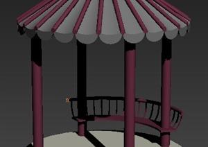 现代风格伞状凉亭3dmax模型