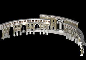 欧式柱廊设计MAX模型