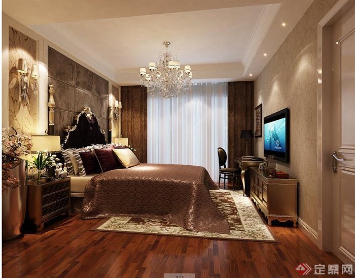 某现代一室两厅住宅空间设计SU模型(2)