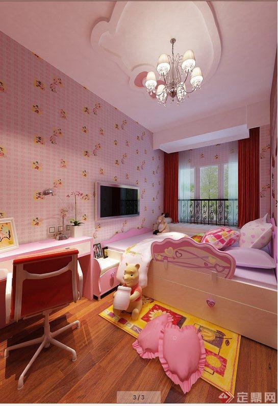 现代某两室一厅住宅空间室内装修设计SU模型+CAD施工图(2)