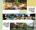 广场景观,水景,坐凳,植物,地面铺装,小品