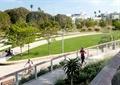 园路,栏杆,植物,草坪,路灯