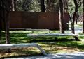 景墙,坐凳,草坪,乔木