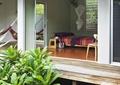 庭院景观,木台阶,灌木植物