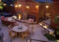 桌椅,沙发,壁炉,碎拼铺装,庭院景观,庭院灯