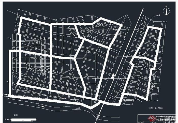 某市給水工程設計CAD圖(6)