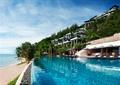 酒店景观,游泳池,热带植物,海景