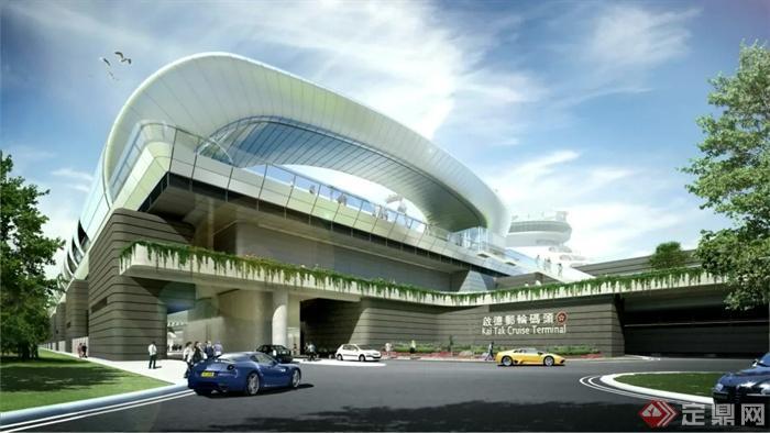 商业中心,商业建筑,汽车