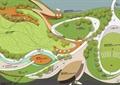 公园景观,园路,植物,水景