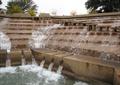 叠水景观,景观水池,流水公园,汀步桥