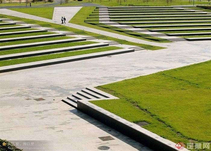 园路,台阶,草坪,地面铺装