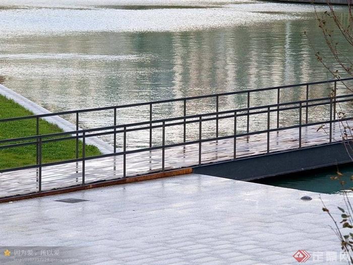 桥,地面铺装,栏杆,水景