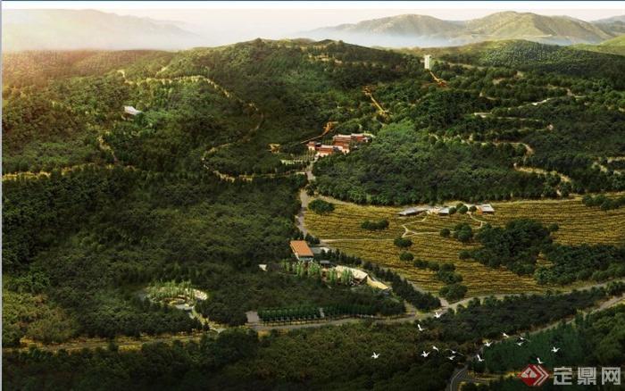 某中式风格森林公园景观设计方案(1)