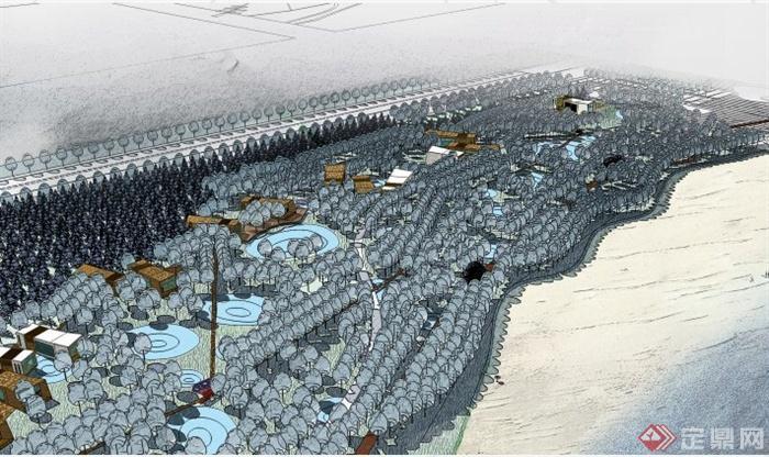 现代风格滨水城市景观方案设计(2)