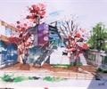 建筑手绘图,景观手绘图,手绘效果图,办公建筑