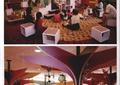 教室,坐凳,吊灯,景观柱,书桌,图书室