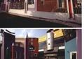 幼儿园,学校,围墙,景观柱,地面铺装,教学楼