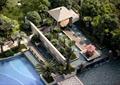 凉亭,喷泉水景,景观水池,树池,景墙
