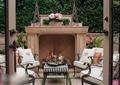壁炉,桌椅,沙发,庭院景观