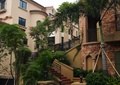 庭院,庭院景观,台阶,围栏