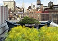 屋顶花园,椅子,玻璃栏杆