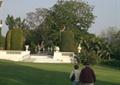 小广场景观,草坪,台阶,栏杆,常绿乔木
