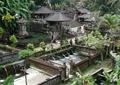 噴泉水景,圍墻,佛龕,涼亭,庭院景觀