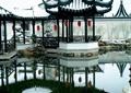凉亭,围墙,滨水景观,亭廊组合,灯笼