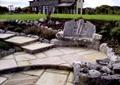 庭院,庭院景观,花园,石凳,靠椅,台阶,铺装