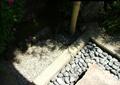 卵石水沟,矮墙,景石
